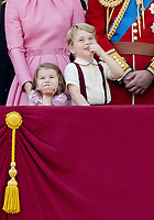 17 June 2017 - London, England - Prince George and Princess Charlotte. The ceremony of the Trooping the Colour, marking the monarch's official birthday, in London. Photo Credit: PPE/face to face/AdMedia
