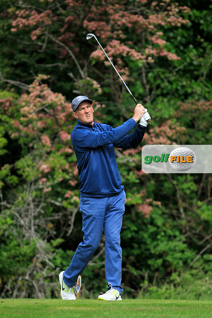 Eddie McCormack (Galway Bay) on the 2nd tee during Round 3 of the Irish Mid-Amateur Open Championship at New Forest on Sunday 21st June 2015.<br /> Picture:  Thos Caffrey / www.golffile.ie