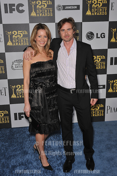 Missy Yager & Sam Trammell at the 25th Anniversary Film Independent Spirit Awards at the L.A. Live Event Deck in downtown Los Angeles..March 5, 2010  Los Angeles, CA.Picture: Paul Smith / Featureflash