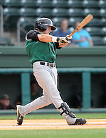 June 5, 2008: Outfielder Shane Jordan (2) of the Augusta GreenJackets, Class A affiliate of the San Francisco Giants, in a game against the Greenville Drive at Fluor Field at the West End in Greenville, S.C. Photo by:  Tom Priddy/Four Seam Images