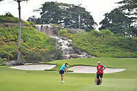 SINGAPORE - MARCH 02: Georgia Hall of England on the 3rd fairway during the third round of the HSBC Women's World Championship 2019 at Sentosa Golf Club - Tanjong Course, Singapore on March 02, 2019.<br /> .<br /> .<br /> .<br /> (Photo by: Naratip Golf Srisupab/SEALs Sports Images)<br /> .<br /> Any image use must include a mandatory credit line adjacent to the content which should read: Naratip Golf Srisupab/SEALs Sports Images