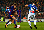 25th September 2018, Camp Nou, Barcelona, Spain; Copa del Rey football, quarter final, second leg, Barcelona versus Espanyol; Sergi Roberto scape from Granero