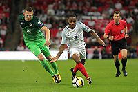 Raheem Sterling of England takes on Rajko Rotman of Slovenia during the FIFA World Cup 2018 Qualifying Group F match between England and Slovenia at Wembley Stadium on October 5th 2017 in London, England. <br /> Calcio Inghilterra - Slovenia Qualificazioni Mondiali <br /> Foto Phcimages/Panoramic/insidefoto