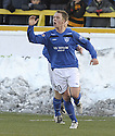 04/12/2010   Copyright  Pic : James Stewart.sct_jsp002_alloa_v_peterhead  .:: RYAN STRACHAN CELEBRATES AFTER HE SCORES PETERHEAD'S FIRST FROM THE SPOT ::.James Stewart Photography 19 Carronlea Drive, Falkirk. FK2 8DN      Vat Reg No. 607 6932 25.Telephone      : +44 (0)1324 570291 .Mobile              : +44 (0)7721 416997.E-mail  :  jim@jspa.co.uk.If you require further information then contact Jim Stewart on any of the numbers above.........