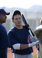Asdrubal Cabrera -  Cleveland Indians - 2009 spring training.Photo by:  Bill Mitchell/Four Seam Images