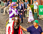 JULY 06, 2019 : Concrete Rose  with  Julien Leparoux, wins the $750,000 Belmont Oaks Invitational Stakes, 1 1/4 mile on turf, at Belmont Park, in Elmont, NY, July 6, 2019.  Sue Kawczynski_ESW_CSM