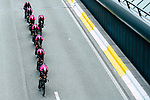 Team Ineos in action during Stage 2 of the 2019 Tour de France a Team Time Trial running 27.6km from Bruxelles Palais Royal to Brussel Atomium, Belgium. 7th July 2019.<br /> Picture: ASO/Alex Broadway | Cyclefile<br /> All photos usage must carry mandatory copyright credit (© Cyclefile | ASO/Alex Broadway)