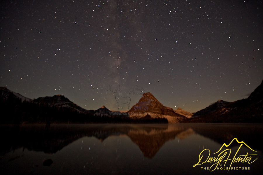 Milky Way over Two Medicine Lake in Glacier National Park