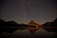 Milky Way over Two Medicine Lake in Glacier National Park