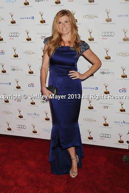 WEST HOLLYWOOD, CA- SEPTEMBER 20: Actress Connie Britton arrives at the 65th Emmy Awards Performers Nominee Reception at Spectra by Wolfgang Puck at the Pacific Design Center on September 20, 2013 in West Hollywood, California.