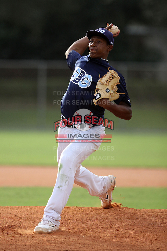 Nathan Hadley, #45 of Loyola High School, CA for the GBG Marucci Team during the WWBA World Championship 2013 at the Roger Dean Complex on October 25, 2013 in Jupiter, Florida. (Stacy Jo Grant/Four Seam Images)