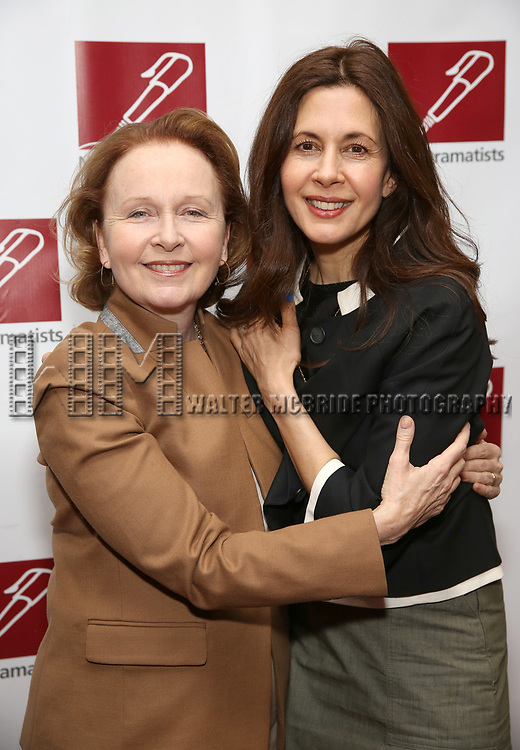 Kate Burton and Jessica Hecht attends The New Dramatists' 68th Annual Spring Luncheon at the Marriott Marquis on May 16, 2017 in New York City.