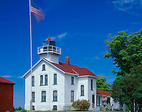 Leelanau County, MI:  Grand Traverse Lighthouse (1885) at Lighthouse Point in Leelanau State Park