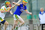 Stephen Power Lixnaw in action against Ian Brick Kilmoyley in the County Senior Hurling Final at Austin Stack Park Tralee on Sunday.