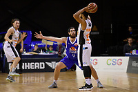 Saints&rsquo; Jordan Ngtai in action during the NBL - Cigna Saints v Hawkes Bay Hawks at TSB Arena, Wellington, New Zealand on Sunday 27 May 2018.<br /> Photo by Masanori Udagawa. <br /> www.photowellington.photoshelter.com