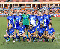 Houston, TX - Wednesday June 28, 2017: Boston Breakers  Starting XI prior to a regular season National Women's Soccer League (NWSL) match between the Houston Dash and the Boston Breakers at BBVA Compass Stadium.