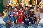 Young Visitors to Shwedagon Pagoda