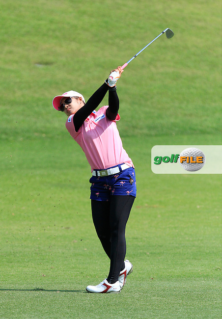 Pornanong Phatlum (THA) on the 16th fairway during Round 3 of the HSBC Women's Champions at the Sentosa Golf Club, The Serapong Course in Singapore on Saturday 7th March 2015.<br /> Picture:  Thos Caffrey / www.golffile.ie