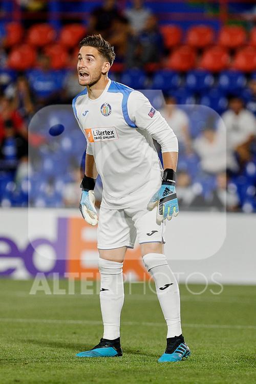 Leandro Chichizola of Getafe CF during UEFA Europa League match between Getafe CF and Trabzonspor at Coliseum Alfonso Perez in Getafe, Spain. September 19, 2019. (ALTERPHOTOS/A. Perez Meca)