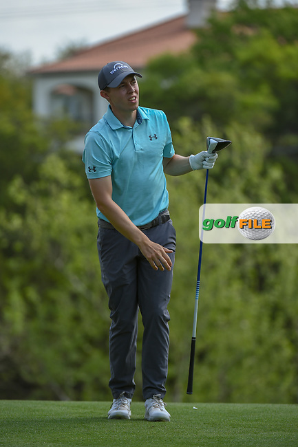 Matt Fitzpatrick (ENG) watches his tee shot on 3 during day 2 of the WGC Dell Match Play, at the Austin Country Club, Austin, Texas, USA. 3/28/2019.<br /> Picture: Golffile | Ken Murray<br /> <br /> <br /> All photo usage must carry mandatory copyright credit (© Golffile | Ken Murray)