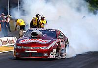 May 18, 2014; Commerce, GA, USA; NHRA pro stock driver Greg Anderson during the Southern Nationals at Atlanta Dragway. Mandatory Credit: Mark J. Rebilas-USA TODAY Sports