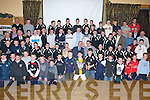 Winners - Award winners along with special guests Darragh O'Se? and Weeshie Fogerty at the Ardfert GAA Juvenile Prize-Giving Night held in The Ballyroe Heights Hotel on Friday night.