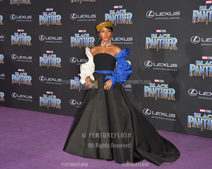 Janelle Monae at the world premiere for &quot;Black Panther&quot; at the Dolby Theatre, Hollywood, USA 29 Jan. 2018<br /> Picture: Paul Smith/Featureflash/SilverHub 0208 004 5359 sales@silverhubmedia.com