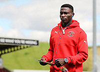Fleetwood Town player Godswill Ekpolo inspects the pitch on arrival at the Sixfields Stadium<br /> <br /> Photographer Andrew Kearns/CameraSport<br /> <br /> The EFL Sky Bet League One - Northampton Town v Fleetwood Town - Saturday August 12th 2017 - Sixfields Stadium - Northampton<br /> <br /> World Copyright &copy; 2017 CameraSport. All rights reserved. 43 Linden Ave. Countesthorpe. Leicester. England. LE8 5PG - Tel: +44 (0) 116 277 4147 - admin@camerasport.com - www.camerasport.com