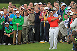 Francesco Molinari playing his second shot on the first on the final day of the 3 Irish Open, at the Killarney Golf and Fishing Club, Killarney, Ireland.Picture Fran Caffrey/www.golffile.ie.
