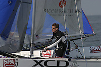 20th SPA Regatta - Medemblik.26-30 May 2004..Copyright free image for editorial use. Please credit Peter Bentley..Leigh McMillan - GBR