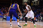 Turkish Airlines Euroleague 2018/2019. <br /> Regular Season-Round 16.<br /> FC Barcelona Lassa vs Darussafaka Tekfen Istanbul: 97-65.<br /> Adam Hanga vs Stanton Kidd.