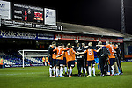 Luton Town 6 Kidderminster Harriers 0, 28/12/2013. Kenilworth Road, Football Conference. A bumper Christmas crowd packs in to Luton's old stadium with hope that this will be their year to return to the Football League. Luton Town players celebrate the 6-0 win which takes them to the top of the Football Conference. Photo by Simon Gill.