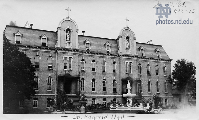 GNDL 30/30:  Exterior view of St. Edward's Hall, c1911-1913.  Image from the University of Notre Dame Archives.