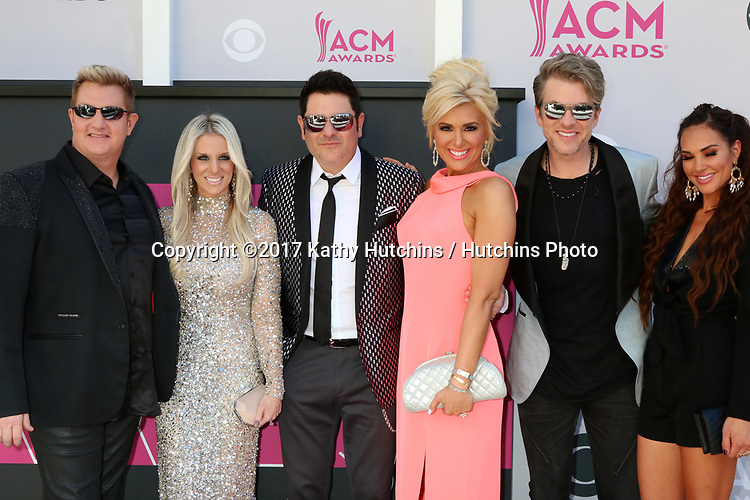 LAS VEGAS - APR 2:  Gary LeVox, Tara LeVox, Jay DeMarcus, Allison Alderson, Joe Don Rooney, Tiffany Fallon at the Academy of Country Music Awards 2017 at T-Mobile Arena on April 2, 2017 in Las Vegas, NV