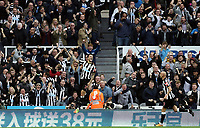 Newcastle United's Joselu celebrates scoring his side's equalising goal to make the score 1 - 1<br /> <br /> Photographer Rich Linley/CameraSport<br /> <br /> The Premier League -  Newcastle United v Liverpool - Sunday 1st October 2017 - St James' Park - Newcastle<br /> <br /> World Copyright &copy; 2017 CameraSport. All rights reserved. 43 Linden Ave. Countesthorpe. Leicester. England. LE8 5PG - Tel: +44 (0) 116 277 4147 - admin@camerasport.com - www.camerasport.com