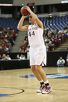 SACRAMENTO, CA - MARCH 29: Joslyn Tinkle during Stanford's 55-53 win over Xavier in the NCAA Women's Basketball Championship Elite Eight on March 29, 2010 at Arco Arena in Sacramento, California.
