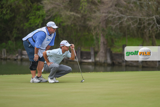 Kevin Kisner (USA) lines up his putt on 12 during day 5 of the World Golf Championships, Dell Match Play, Austin Country Club, Austin, Texas. 3/25/2018.<br /> Picture: Golffile | Ken Murray<br /> <br /> <br /> All photo usage must carry mandatory copyright credit (© Golffile | Ken Murray)