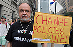 Dill Puka, Troy, seen before the start of  the People's Climate March in New York City on Sunday, September 21, 2014. Photo by Jim Peppler. Copyright Jim Peppler 2014. All rights reserved.