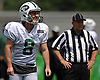 Cairo Santos #8 of the New York Jets gets ready to kick during team practice at the Atlantic Health Jets Training Center in Florham Park, NJ on Sunday, July 29, 2018.