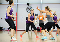 07.10.2017 Silver Ferns Gina Crampton in action during the Silver Ferns training in Christchurch. Mandatory Photo Credit ©Michael Bradley.
