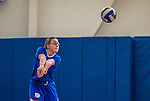 27 October 2013: Yeshiva University Maccabee Outside Hitter Makena Owens, a Sophomore from Sammamish, WA, in action against the College of Mount Saint Vincent Dolphins at the College of Mount Saint Vincent in Riverdale, NY. The Dolphins defeated the Maccabees 3-0 in NCAA women's volleyball play. Mandatory Credit: Ed Wolfstein Photo *** RAW (NEF) Image File Available ***