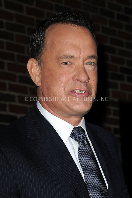 WWW.ACEPIXS.COM . . . . . ....October 29 2009, New York City....Actor Tom Hanks leaving the 'Late Show with David Letterman' on October 29 2009 in New York City....Please byline: KRISTIN CALLAHAN - ACEPIXS.COM.. . . . . . ..Ace Pictures, Inc:  ..tel: (212) 243 8787 or (646) 769 0430..e-mail: info@acepixs.com..web: http://www.acepixs.com
