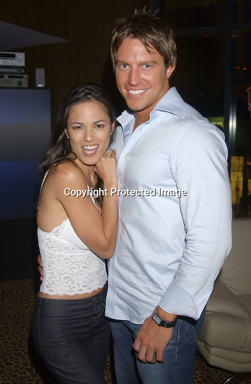 ..Terri Ivens and Finalist Douglas Seibert..at a party for the finalists in All My Children's Sexiest Man ..Alive Contest at Planet Hollywood  on September 13, 2003. Photo by Robin Platzer, Twin Images