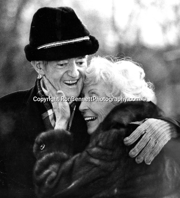 Hubert H. Humphrey hug from wife Muriel after return from Camp David Maryland, HHH, Senator, Hubert H. Humphrey Vice President of the United States of American, Fine Art Photography by Ron Bennett, Fine Art, Fine Art photography, Art Photography, Copyright RonBennettPhotography.com ©