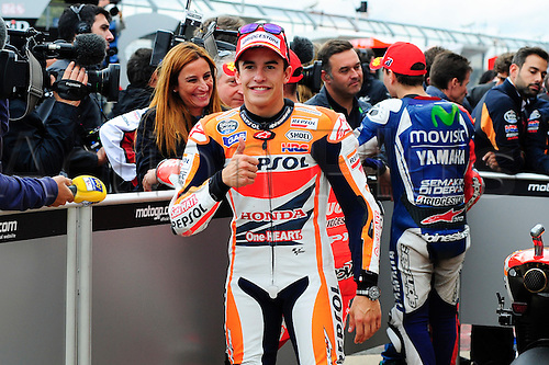 30.08.2014.  Silverstone, England. MotoGP. British Grand Prix. Marc Marquez (repsol Honda Team) during the qualifying sessions.