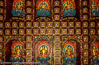 Wall of Buddhas, Buddha Tooth Relic Temple, Chinatown, Singapore