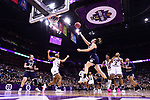 COLUMBUS, OH - APRIL 1: Marina Mabrey #3 of the Notre Dame Fighting Irish shoots over Victoria Vivians #35 of the Mississippi State Bulldogs during the championship game of the 2018 NCAA Division I Women's Basketball Final Four at Nationwide Arena in Columbus, Ohio. (Photo by Ben Solomon/NCAA Photos via Getty Images)