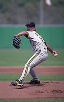 Pittsburgh Pirates pitcher Doug Drabek during Spring Training 1992 at Baseball City Stadium in Davenport, Florida.  (MJA/Four Seam Images)