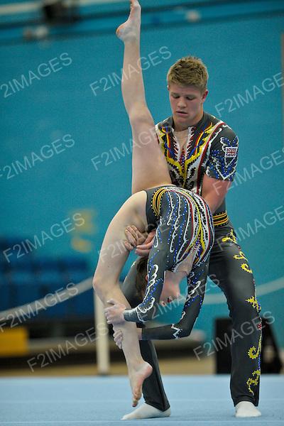 24.03.2012 Gymnastics, British Acrobatics Championships from Fenton Manor, Stoke on Trent. .Rhys Maxwell, Erin Walker.Deerness