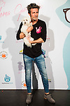 Jesus Olmedo and his Dog attends to the photocall of the celebration of the 2nd Aniversary of By Nerea Garmendia at COAM in Madrid. June 06. 2016. (ALTERPHOTOS/Borja B.Hojas)